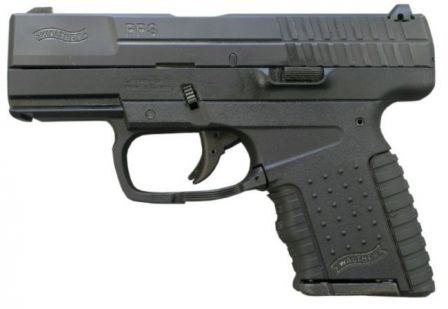 Walther PPS pistol in 9x19 caliber, with 6-round magazine.