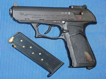 HK P9S Sport, with adjustable sights and reshaped trigger guard.