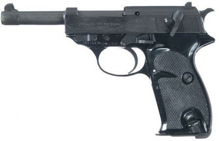 Walther P1, a post-war military version of P38 with aluminum frame.