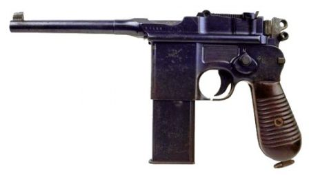 Mauser C-96 model 712 - select-fire with removable 20 rd magazine.