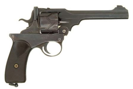 .455 caliber Webley-Fosbery revolver, right side