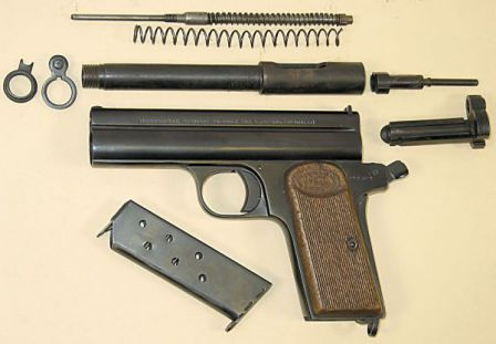 Frommer M1912 Stop pistol, basic disassembly.