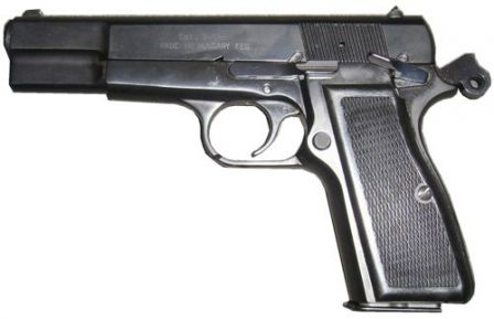 FEG P9M pistol, left side view.