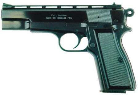 FEG FP9 pistol; the only difference from P9M is the ventilated rib at the top of the slide.