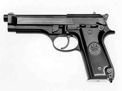 Beretta 92 - basic model with frame mounted safety.