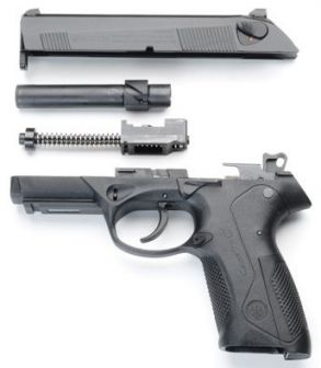 PX4 pistol partially disassembled