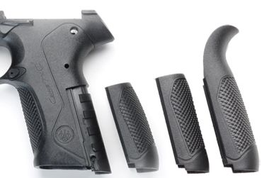 The grip of PX4 pistol features removable backstraps of various sizes and shapes