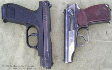 Gsh-18 compared to the famous Makarov PM pistol