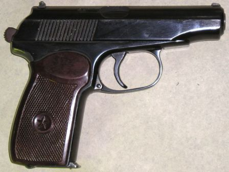 Makarov PM pistol, 1971 production gun, left side