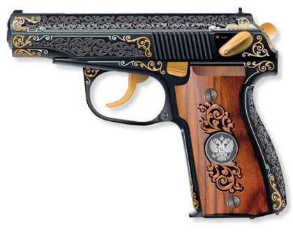 Makarov PM pistol, heavily engraved presentation 'Russian government' version, current manufacture