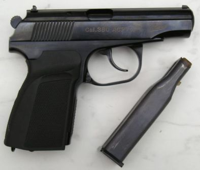 IJ71H pistol, a commercial export-only version of Makarov PMM pistol with 12-round magazine, caliber 9x17 (.380ACP)