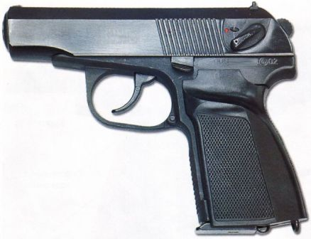 Makarov / Shigapov PMM pistol with 12-round magazine capacity and improved grip panels