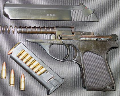 PSM pistol, partially disassembled