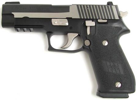 Recent production SIG-Sauer .45ACP P220 pistol with semi-custom