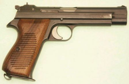 Early production (pre- P210 designation) SIG S.P. 47/8 pistol, right side