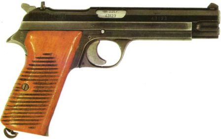 SIG P210-7, a small-bore .22LR training / sport pistol.