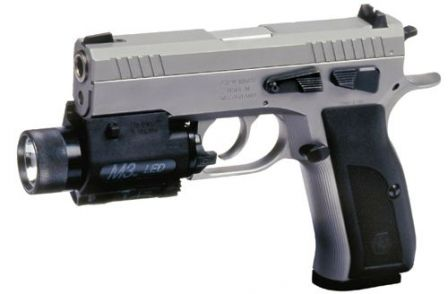 Sphinx 3000T pistol (short-barreled Tactical / Police version with flashlight installed on integral rail)