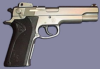 Smith & Wesson mod. 4506 - 3rd generation .45ACP large frame with old style, high profile sights (S&W 1006 in 10mm auto looks almost the same)