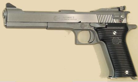 AMT Automag II pistol, caliber .22WMR, left side