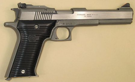 AMT Automag II pistol, caliber .22WMR, right side
