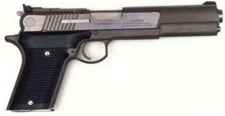 AMT Automag V pistol, caliber .50AE, right side