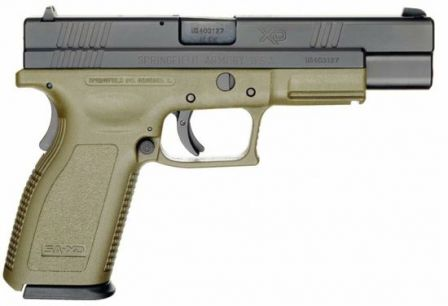 Springfield eXtreme Duty / XD Tactical pistol with 5 inch barrel, caliber .40S&W
