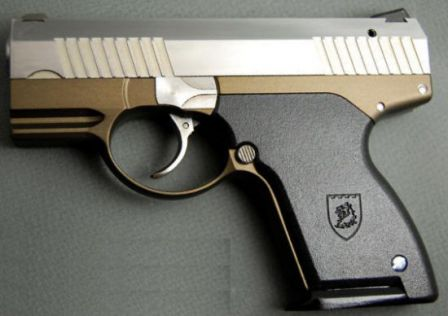 Prototype Boberg XR-9 pistol, left side