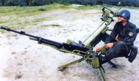 NSV-12,7 on ZPU anti-aircraft mount.