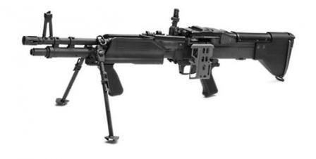 M60E3 light machine gun.