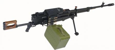 Kord heavy machine gun on6T19 lightweight mount, with belt box, early model.