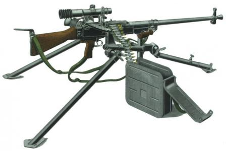 UK Vz.59 in universal MG role, on standard tripod.