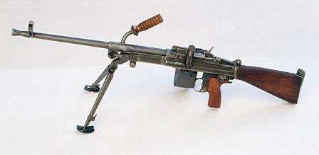 Vz. 52/57 machine gun with belt box mounted at the right side.