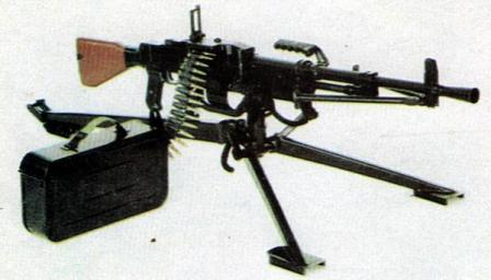 Type 67-2 general purpose machine gun on tripod; note that tripod is different from original type 67.