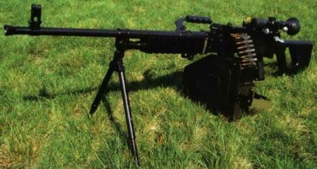 Type 88 (QJY 88) GPMG with attached belt box and telescope sight.