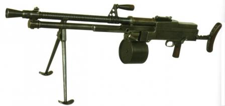Experimental Praha I-23light machine gun, developed by Holek brothers at Prague arms factory in1923.