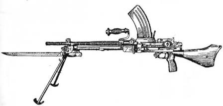 6.5mm Type 96 light machine gun, with magazine and bayonet..