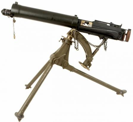 Vickers Mk.I machine gun.