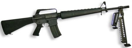 Colt M16A1 automatic rifle / lightmachine gun.