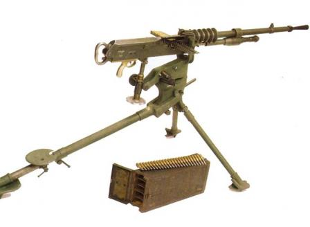 Hotchkiss Model 1914 machine gun.