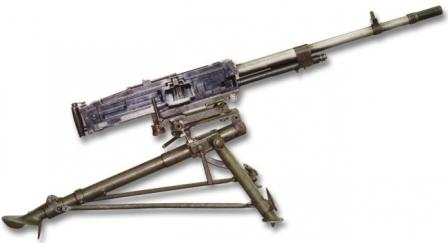 Breda M1937 machine gun, right view.