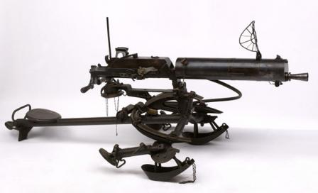 Schwarzlose M1907 machine gun on Dutch-made M tripod, with AA sight.