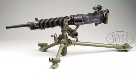Type 92 machine gun, spade grips folded.
