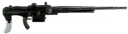 MAC M 1931 tank machine gun, with left-side feed (drum is not installed).