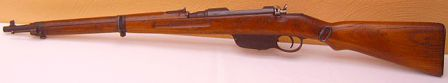 Steyr Mannlicher 8x56R M95/30 short rifle (upgraded and shortened M95), left side.