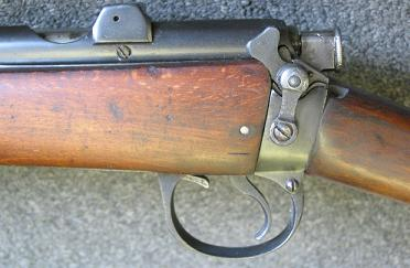 Safety switch on the SMLE Mk.III* (note the absence of the