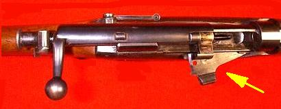 Magazine cut-off on the early SMLE rifle.