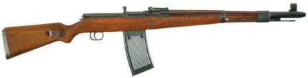 Rare Walther G.41 rifle with 25-round MG.13 magazine.