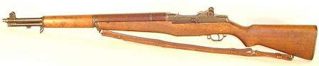 M1 Garand rifle - left side view.