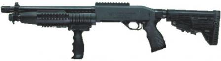 Current production Fort-500M police-type shotgun with retractable buttstock.