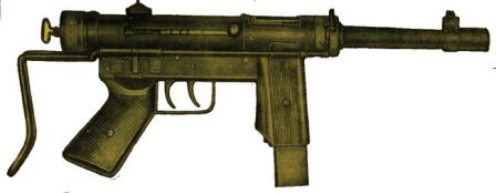Halcon ML-63 submachine gun.